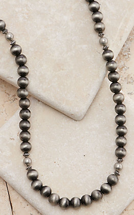 West & Co Silver Faux Navajo Pearl Beads Necklace