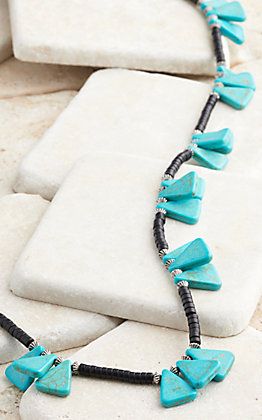 West & Co. Black Beaded Turquoise Accent Necklace