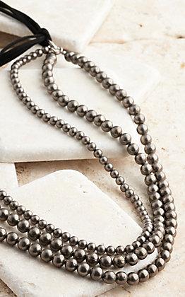 West & Co. Three Strand Navajo Beaded Necklace