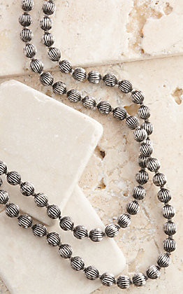 West & Co Silver Melon Beads Long Necklace