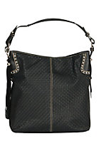 Blazin Roxx Black Basketweave with Tassel Shoulder Bag N7511301