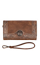 Blazin Roxx Women's Ivy Brown Clutch
