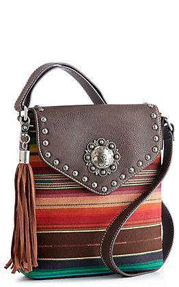 Blazin Roxx Josie Serape Messenger Concealed Carry Crossbody Bag