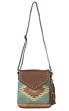 Blazin Roxx Zapotec Aztec Messenger Concealed Carry Crossbody Bag