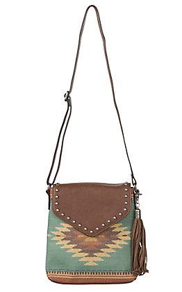 Blazin Roxx Zapotec Aztec Messenger Concealed Carry Crossbody Bag