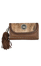 Blazin Roxx Women's Brown Ella Flap Wallet