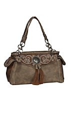 Blazin Roxx Taupe Molly Concealed Weapon Satchel