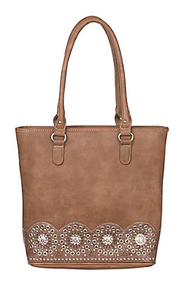 Blazin Roxx Rhianna Medium Brown With Stud and Cutout Detail Concealed Weapon Tote