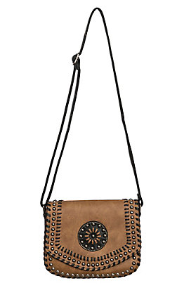 Blazin Roxx Women's Tan Vanessa Concealed Weapon Shoulder Bag