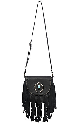 Blazin Roxx Women's Black Shelby Fringe Shoulder Bag