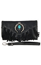Blazin Roxx Women's Black Shelby Fringe Wallet