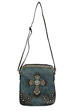 Blazin' Roxx Women's Cross Body Blue with Cross Purse