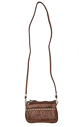 Blazin Roxx Brown with Floral Design Wristlet