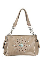Blazin Roxx Tan with Starburst Rhinestone and Tuqruoise Embellishment Western Purse
