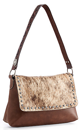 Blazin Roxx Brown Cowhide Concealed Carry Shoulder Bag
