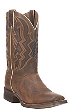 Nocona Men's Brown HERO Collection Double Welt Square Toe Western Boots
