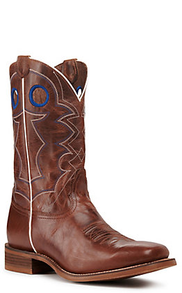 Nocona Men's Hero Go Round Tan Square Toe Western Boots