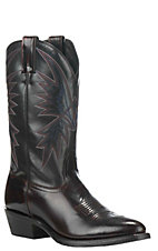 Nocona Men's Black Upper and Black Cherry HERO Round Toe Western Boots