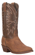 Nocona Men's Tan with Brown Round Toe HERO Western Boots