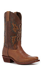 Nocona Men's Tan with Brown Punchy Toe HERO Western Boots
