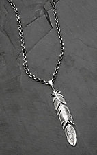 Montana Silversmiths Moving Dangle Feather Necklace