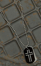 Montana Silversmiths Cross Tag Necklace