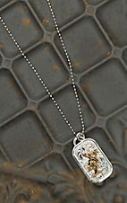 Montana Silversmiths Bull Rider Dog Tag Necklace