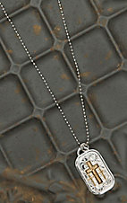 Montana Silversmiths Triple Cross Dog Tag