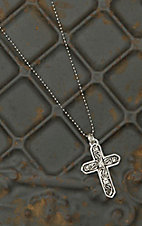 Montana Silversmiths LeatherCut Cross Necklace