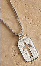 Montana Silver Smith Cross Cut Out Token Necklace