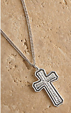 Montana Silver Smith Pinpoints and Wheat Cross Necklace