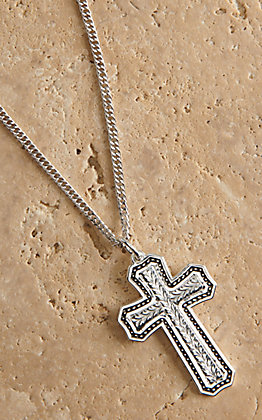 Montana Silversmiths Pinpoints and Wheat Cross Necklace