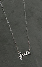 Montana Silversmiths Written Faith Necklace