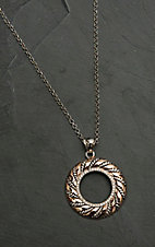 Montana Silver Smith Twisted Wreath of Burnished Ribbon Necklace