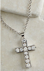 Montana Silver Smith Round Brilliance Cross Necklace