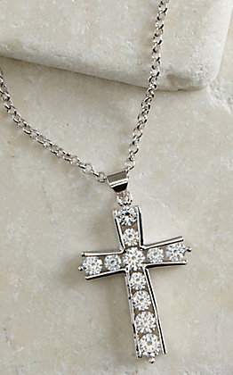 Montana Silversmiths Round Brilliance Cross Necklace