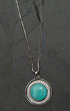 Montana Silver Smith Classic Turquoise Medallion Necklace