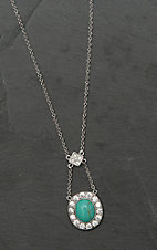 Montana Silver Smith Turquoise Pendulum Lavalier Necklace