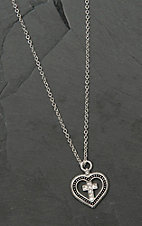 Montana Silver Smith All You Need is Faith & Love Heart Necklace