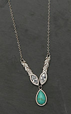 Montana Silver Smith Woven Light Lavalier Necklace