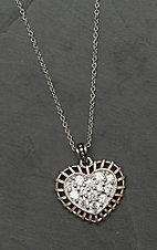 Montana Silversmiths Woven Rose Gold Brilliant Heart Necklace