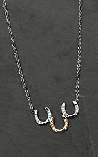 Montana Silver Smith Two Tone Triple Horseshoe Necklace