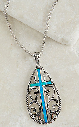 Montana Silversmiths Filigree Water Lights Cross Necklace