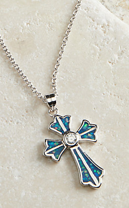 Montana Silversmiths River of Lights Pond of Faith Cross Necklace