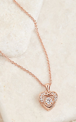 Montana Silversmiths Women's Rose Gold Heart Necklace