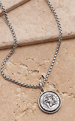 Montana Silversmiths Men's St. Christopher's Prayer Medallion Necklace