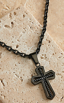 Montana Silversmiths Men's Through the Darkest Night Cross Necklace