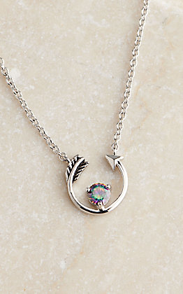 Montana Silversmiths Northern Lights Follow Your Arrow Mystic Topaz Necklace