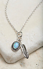 Montana Silversmiths Opal Feather Necklace