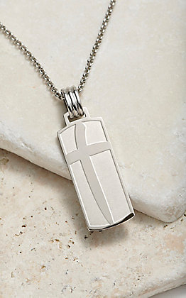 Montana Silversmiths Men's Cowboys Of Faith Cross Marker Necklace